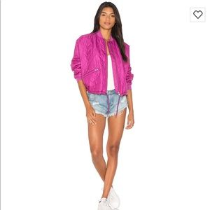 💕Chic Free People Quilted Bomber Jacket 💕